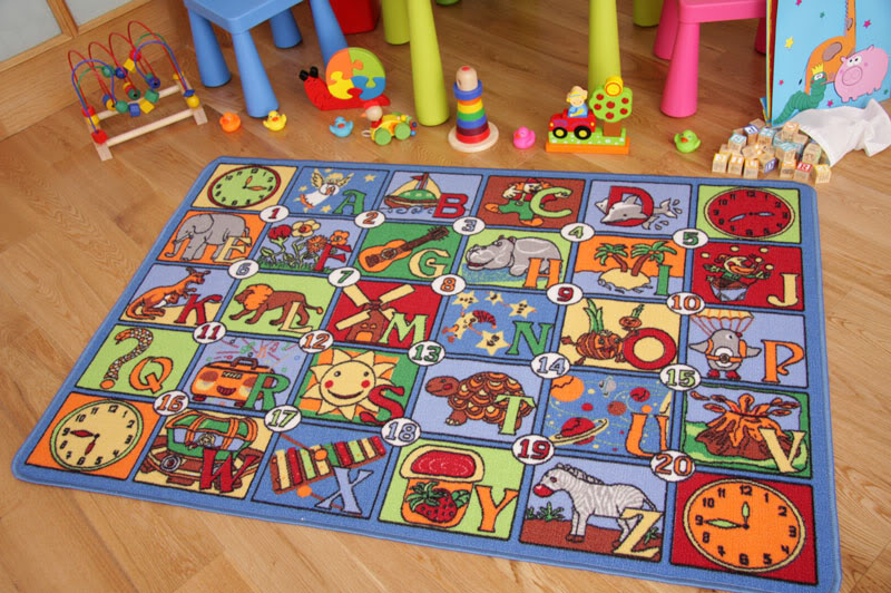 Letter Alphabet Picture Number Kids Play Mat Childrens