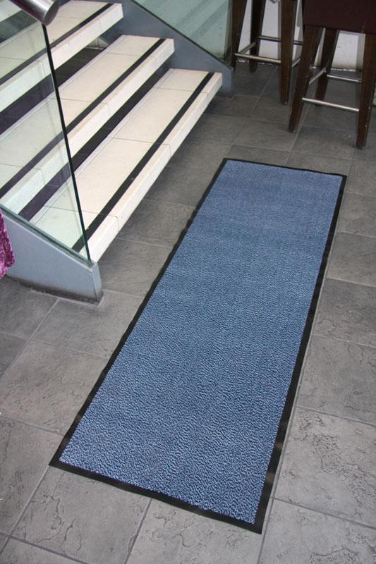 Blue Extra Long Runner Large Mat Dirt Grabber Kitchen