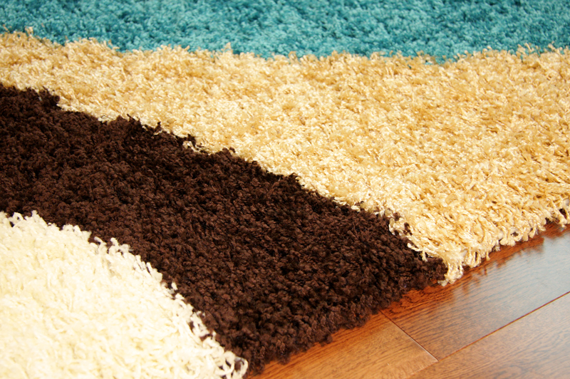 Teal Blue Cream Brown Modern Next Style Swirl Rug Soft Thick Non Shed  Shaggy Mat