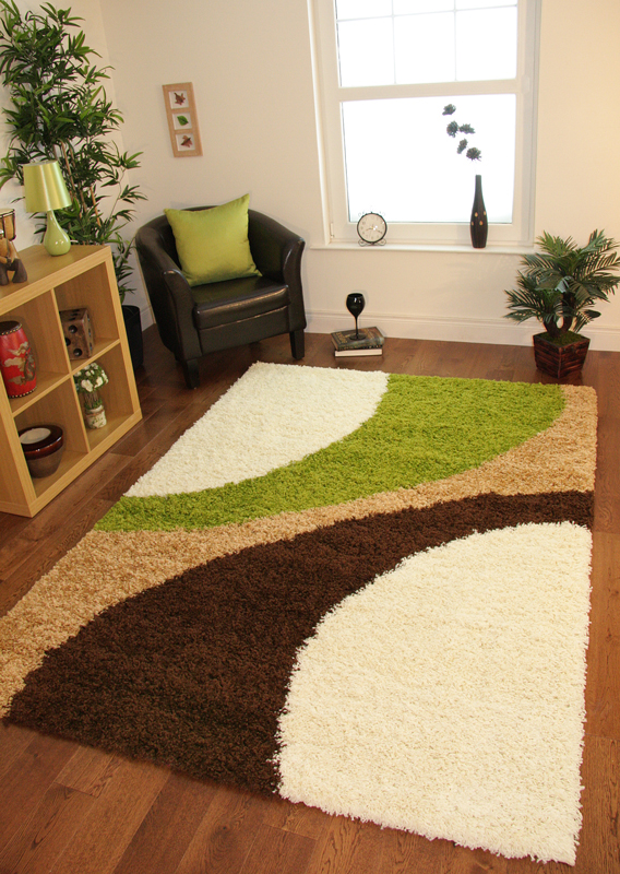 Cream Next Lime Green Chocolate Brown Small Large Shaggy Rugs Non Shedding Pile Ebay