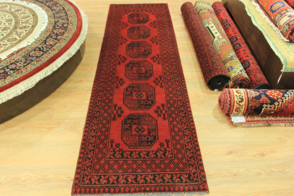 Largo Geom Trico Persa Alfombra Handmade 100 Wool Afgano