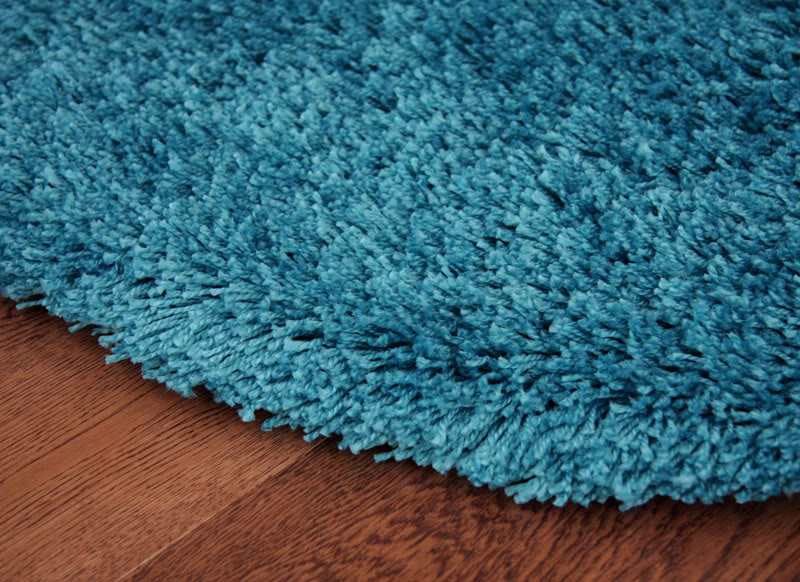 Stockholm Teal Blue Shaggy Rugs Small Large Thick Soft Shag Pile Turquoise  Mats