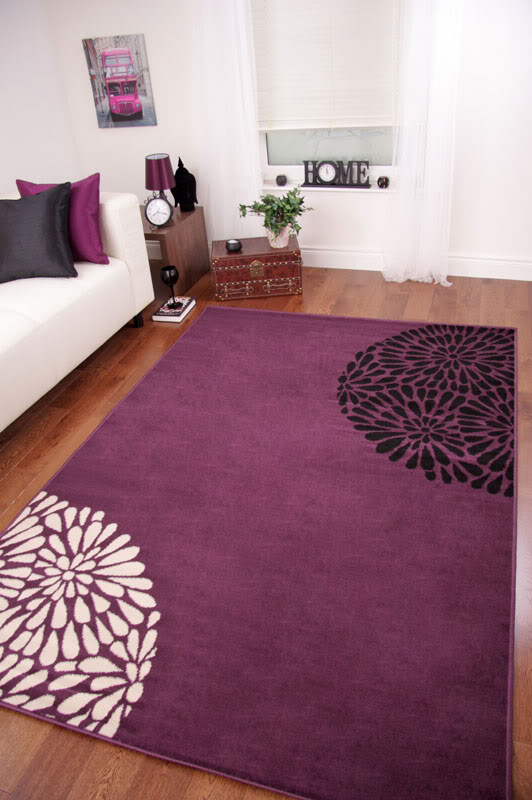 Small large purple aubergine modern shiraz rug quality new for Cheap good quality rugs