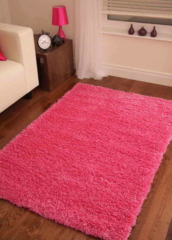 Pink Barbie Fuchsia Small Rug Shaggy Area Carpet Shag