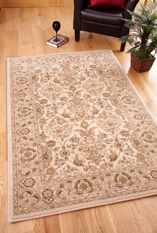 Cairo Cream Beige Traditional Persian Style New Zealand Wool Rug