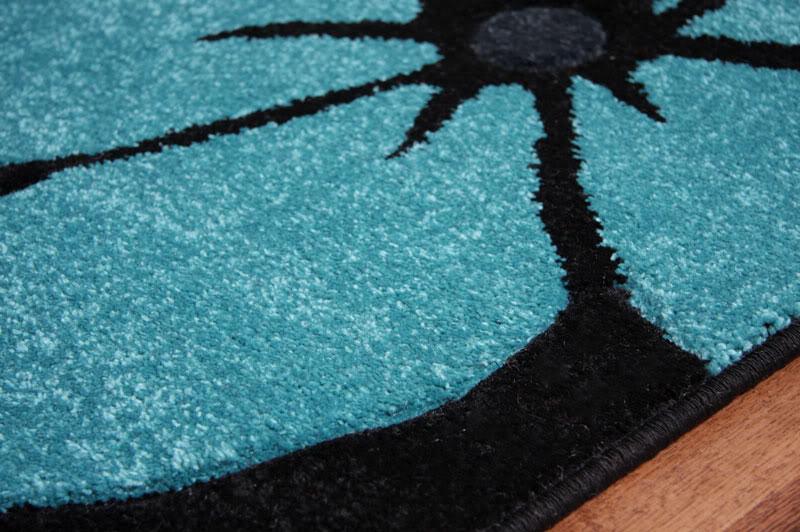 modern black grey teal blue flower extra large area floor rug toronto 2 sizes. Black Bedroom Furniture Sets. Home Design Ideas
