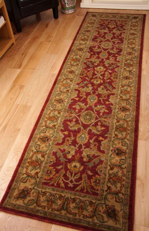 Cairo New Zealand Wool Long Hall Runner Rug Deep Red Wine
