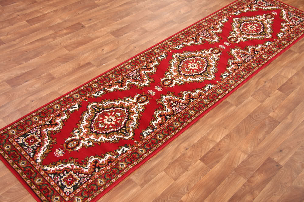 Traditional Floral Red Cottage Style Long Hall Runner Rugs Cheap Carpet Mats NEW : eBay