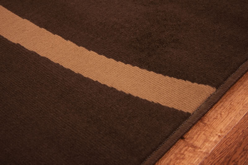 Chocolate brown long hall runner rugs modern plain swirl carpet mats 8 sizes ebay for Chocolate brown bathroom rugs