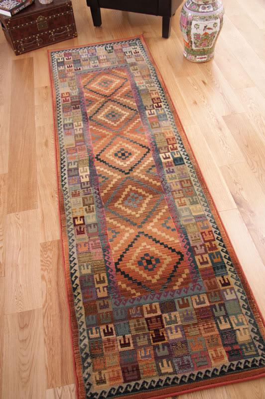 Traditional persian green beige burnt orange extra long hall runner rugs jakarta ebay - Extra long carpet runners ...