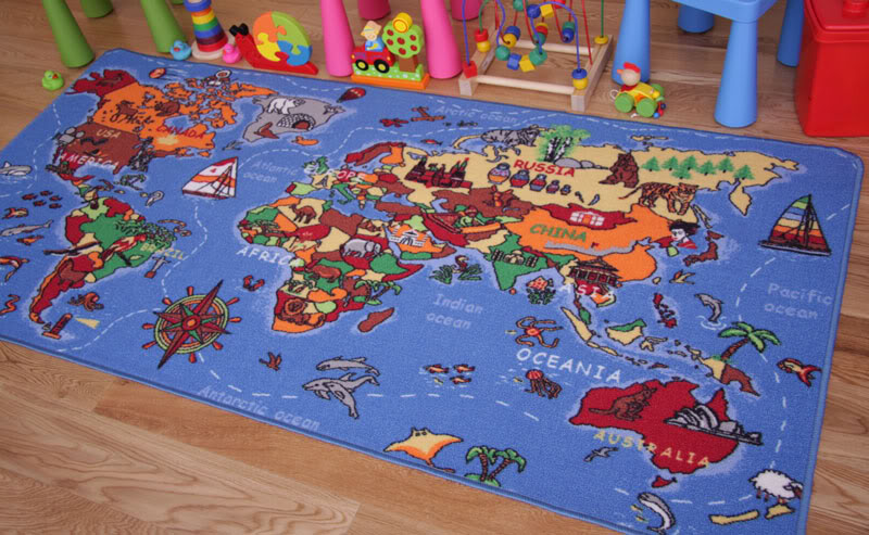 kids play mat educational fun world map country rugs non slip small large 3 size ebay. Black Bedroom Furniture Sets. Home Design Ideas