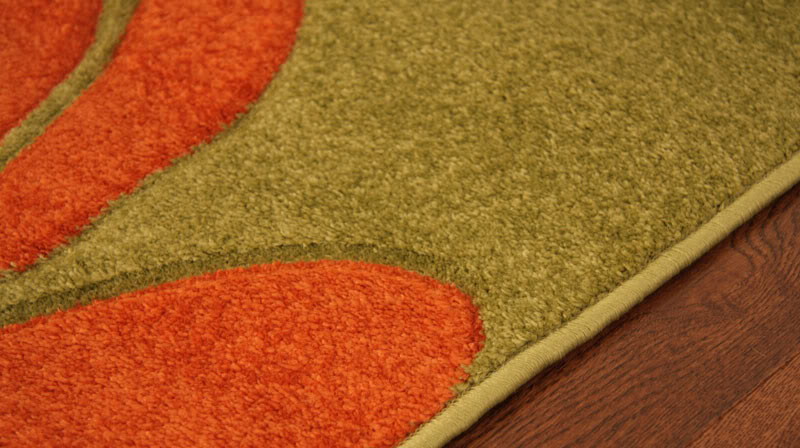 Orange And Green Rug Rugs Ideas