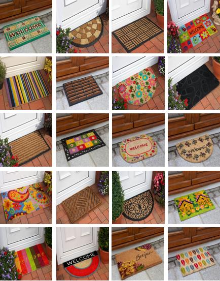 coir doormat large outdoor printed mats half moon paws