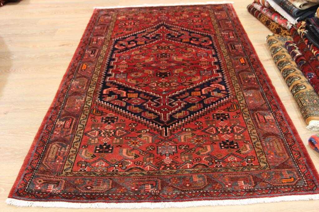 Expensive Rich Traditional Hamadan Oriental Rug Opulent