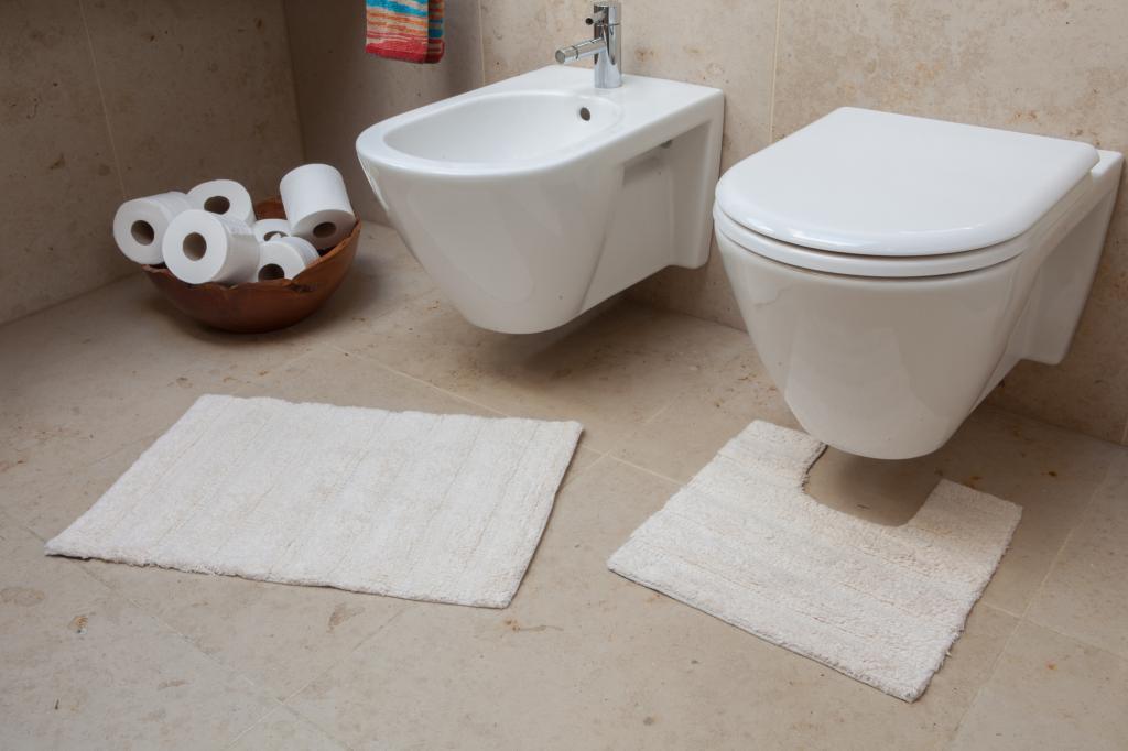 Tappetini per bagno morbidi cotone da lavare in lavatrice - Tappetini per bagno ...