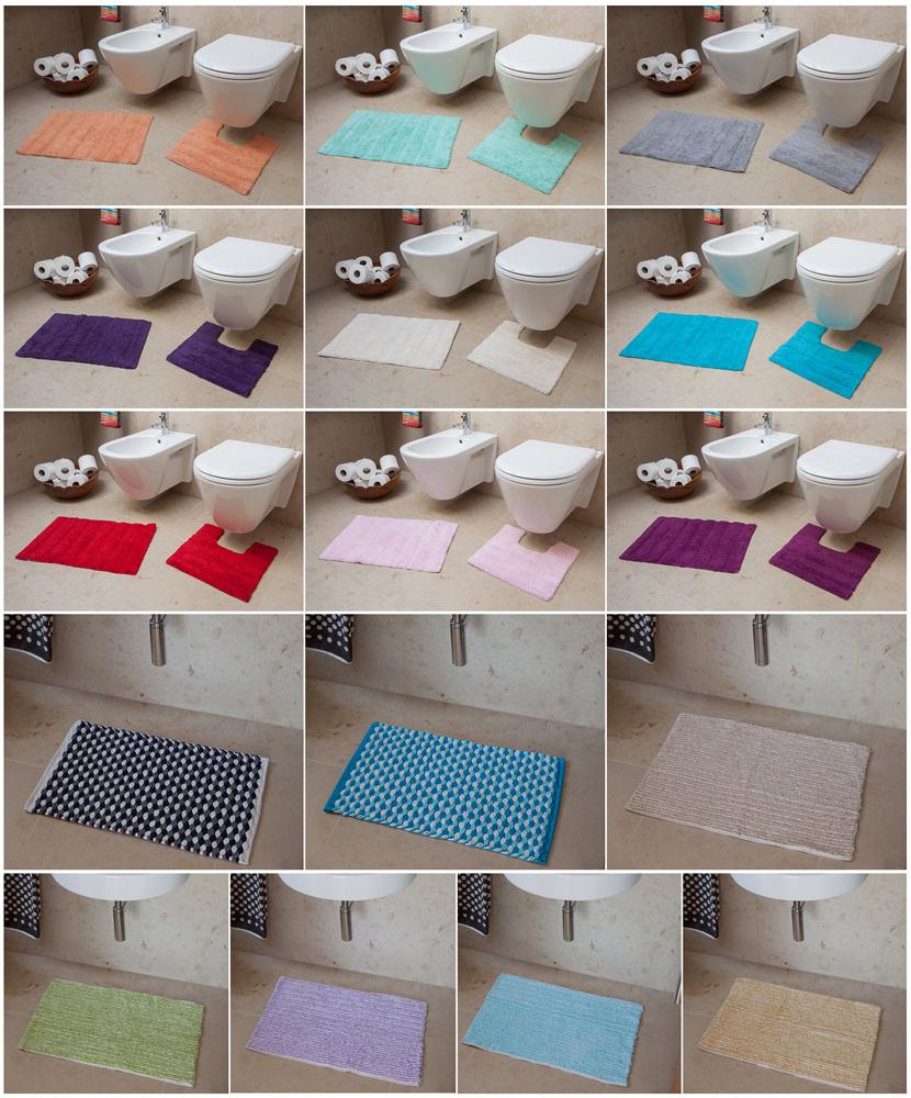 Machine Washable Cotton Bath Mats Bathroom Rugs Modern Plain Striped Shower Sink Ebay
