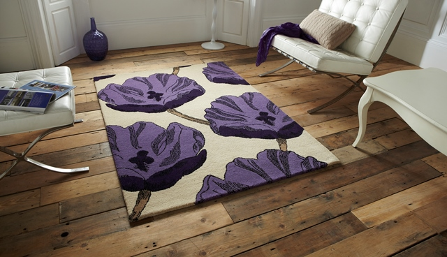 Modern soft floor covering high quality purple cream hand for Floor covering software free