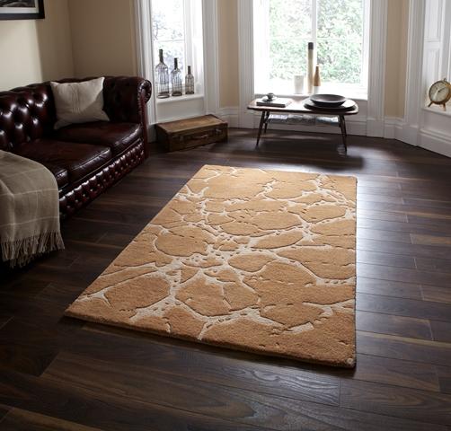 luxus uni beige kopfsteinpflaster stil wolle teppich nat rlich klein dickes ebay. Black Bedroom Furniture Sets. Home Design Ideas