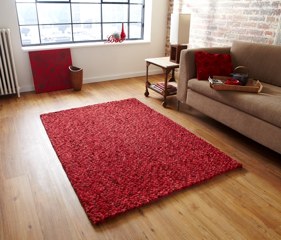 Thick rich red shaggy floor carpet modern cheap high for Cheap good quality rugs