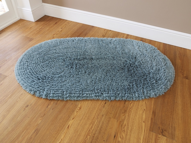 R sistant aux taches lavable en machine bleu sarcelle l ger poil pais tapis - Tapis shaggy bleu turquoise ...