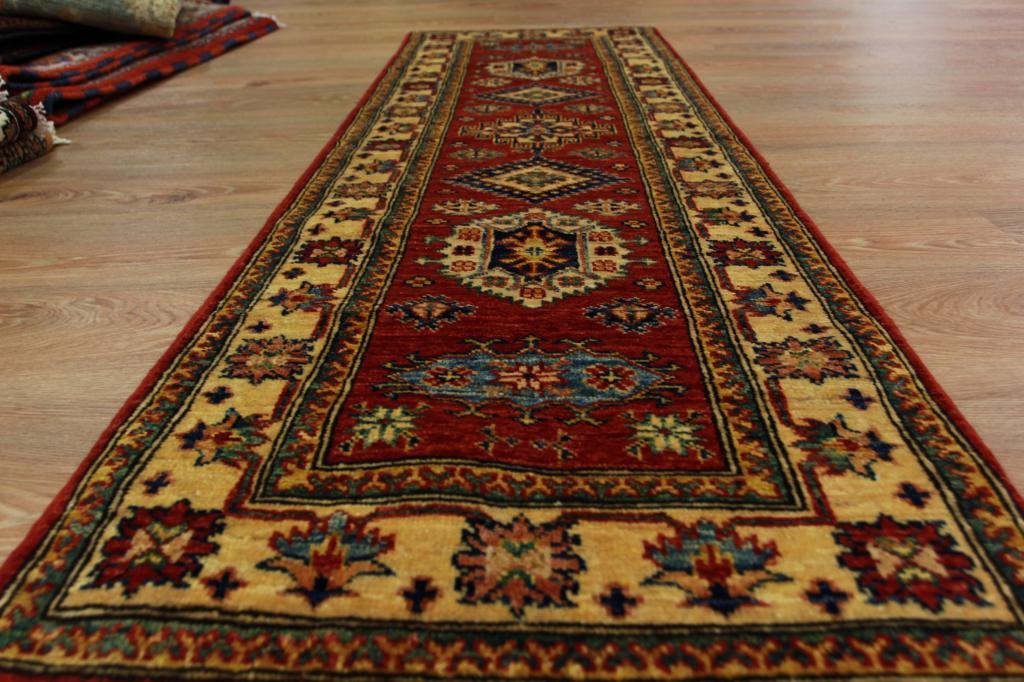 Tradicional geom trico rojo persa alfombra de pasillo for Alfombra persa pasillo