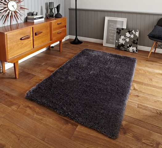 facile nettoyer uni moderne tapis shaggy pas cher large gris poil pais tapis ebay. Black Bedroom Furniture Sets. Home Design Ideas
