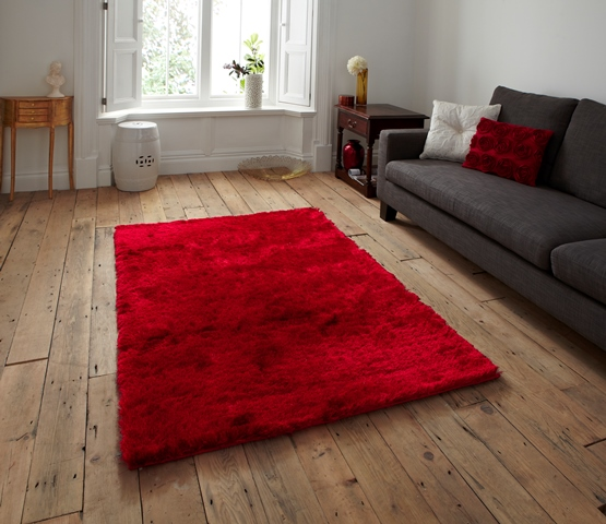 rouge profond tr s doux tapis epais shaggy facile. Black Bedroom Furniture Sets. Home Design Ideas