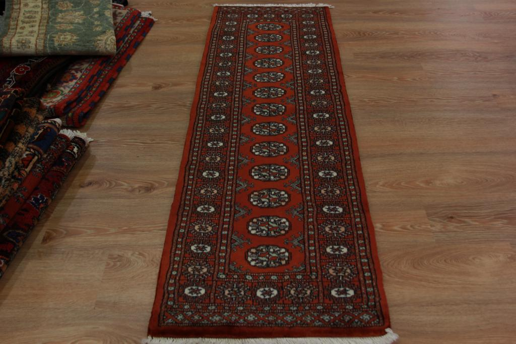Soft High End Rustic Red Pakistan Hallway Runner Rug Small