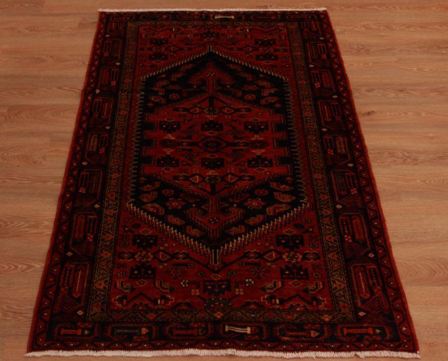 tappeto per camino : Piccolo Rustic Red persiano Khamseh Camino Tappeto geometrico tessuti ...