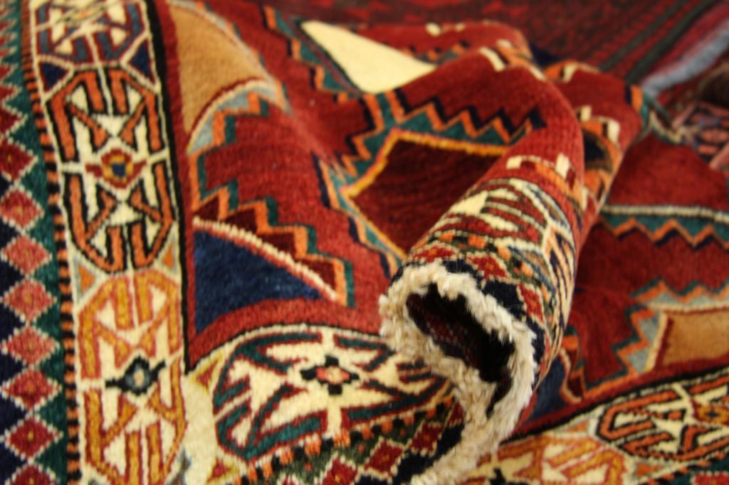 Colorido alta gama handmade alfombra oriental rojo for Alfombra persa roja