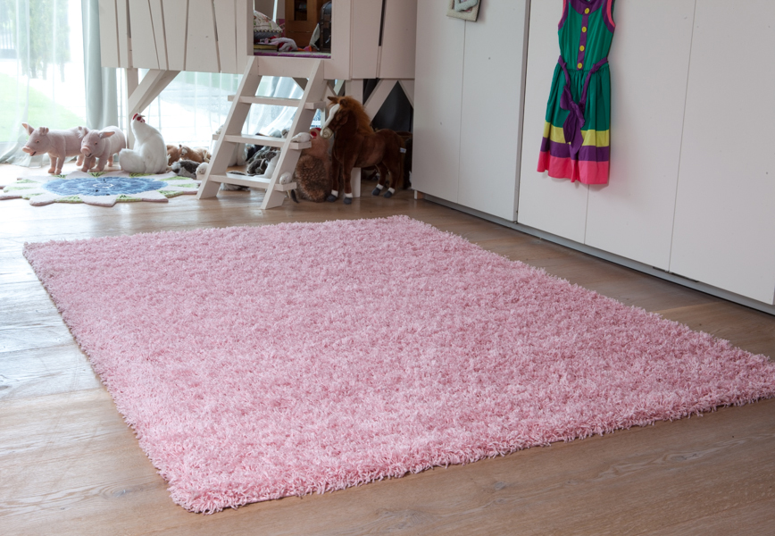 new small large thick soft baby pink shaggy rugs new non shed 5cm pile