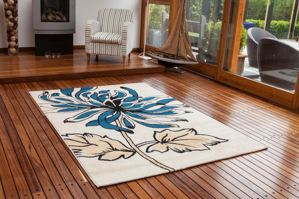 New small large floral modern rugs quality easy clean teal Large living room rugs