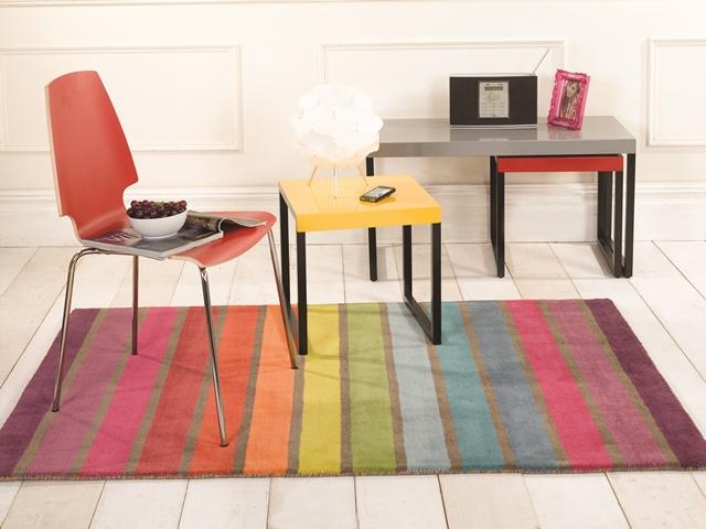 Farbenreich Regenbogen Streifen Superior Fläche Teppich