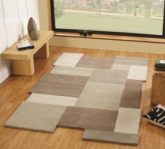 modern einfaches beige stein luxuri s erschwinglicher wolle teppich dickes ebay. Black Bedroom Furniture Sets. Home Design Ideas