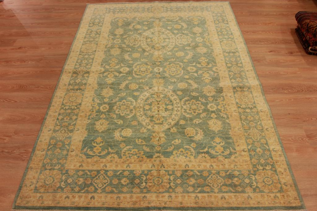 Extra large high end handmade wool persian rug green rare for High end carpet brands