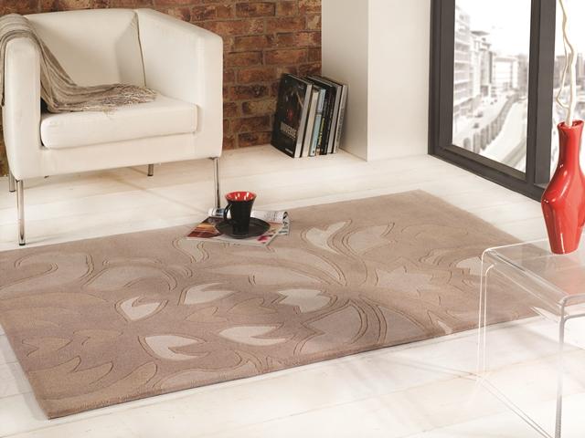 superweich extra dick blumen design beige schwergewicht 100 acryl ebay. Black Bedroom Furniture Sets. Home Design Ideas