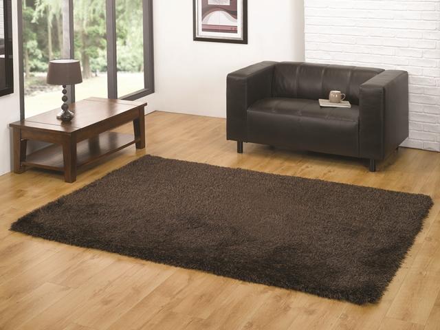 High Quality Super Soft Shiny Brown Floor Carpet Thick