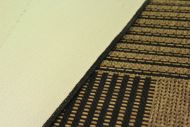 modern strapazierf hig sand beige schwarz karo gemustert d nn treppen l ufer ebay. Black Bedroom Furniture Sets. Home Design Ideas