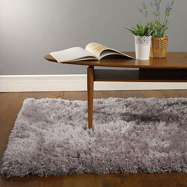Modern grey fluffy super soft faux sheepskin rug cheap for Cheap good quality rugs