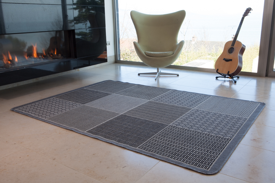 Neuf anti d rapant gris carreaux tapis de sol couloir tr s for Tapis long et etroit