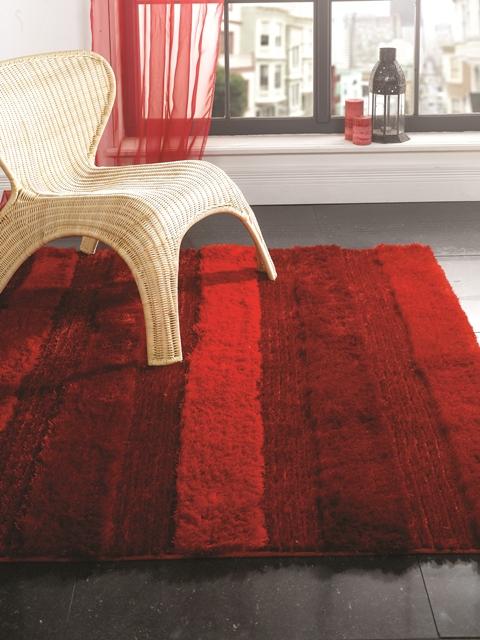 Rojo intenso pelo corto extra suave moderno peludo for Lujo barato