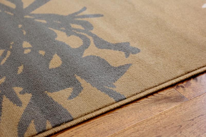 Brown Beige And Grey Dandelion Rug Plain Muted