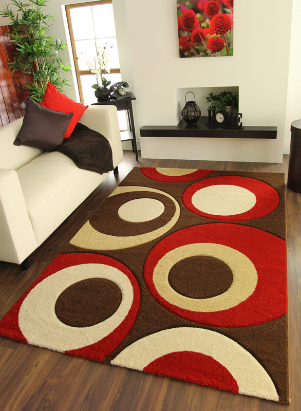New Post Box Red Cream Coffee Brown Circles Patterned ...