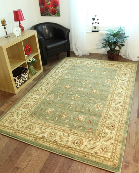 Cheap Green Rugs: Moss Sage Green Soft Antique Style Runner Rugs Short Long