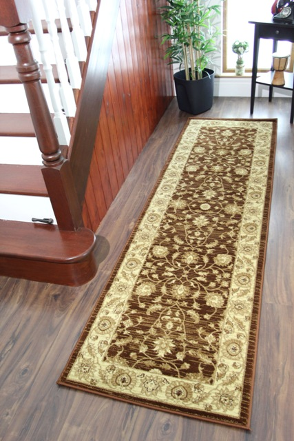 Neuf chocolat marron doux facile nettoyer couloir long for Tapis etroit et long