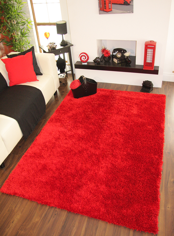 Bright Red Rugs Home Decor