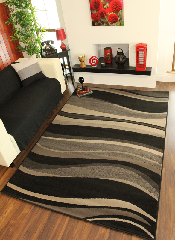 small rugs for bedroom grey black cheap waves modern large small rug quality 17317